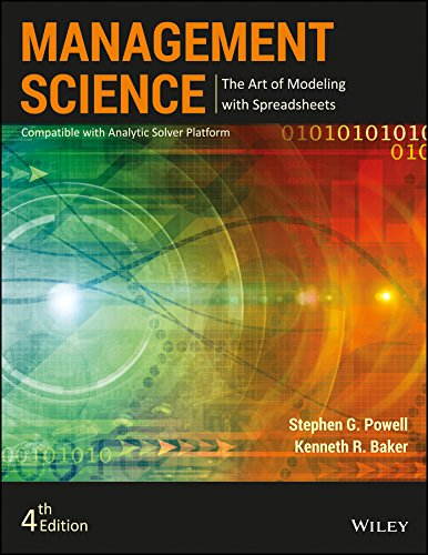 Management Science, 4ed: The Art of Modeling with Spreadsheets Image