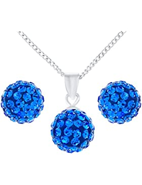 Ornami Damen-Schmuck-Set Kristall Blau 47 cm - SPE6I