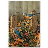 wgi Galerie wa-lbb-812Linda s Bluebirds Wall Art