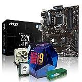 PC Aufrüstkit Intel, i9-9900K 8x3.6 GHz, 32GB DDR4, Intel UHD Grafik 630-1GB, Mainboard Bundle, Tuning Kit, fertig montiert, Spiele Office zusammengestellt in Deutschland Desktop Rechner