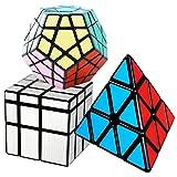 COOJA Cubo Mágico Pack, Speed Magic Cube Pyraminx + Megaminx + Cubo...