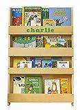 Tidy Books  Estanteria infantil | Librería Montessori para niños con abecedario 3D | Personalizada | Madera | Color natural | 115 x 77 x 7 cm | ECO Friendly | Hecho a mano | La original desde 2004