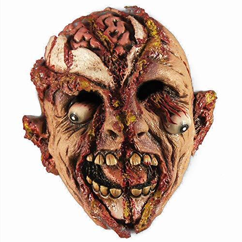Wirklich Kostüm Gruselige Billig - Bearn Halloween gruselige Maske Maskerade Schreckensblutige Monstermaske Adult Latex Kostüm Halloween Terrorist Requisiten