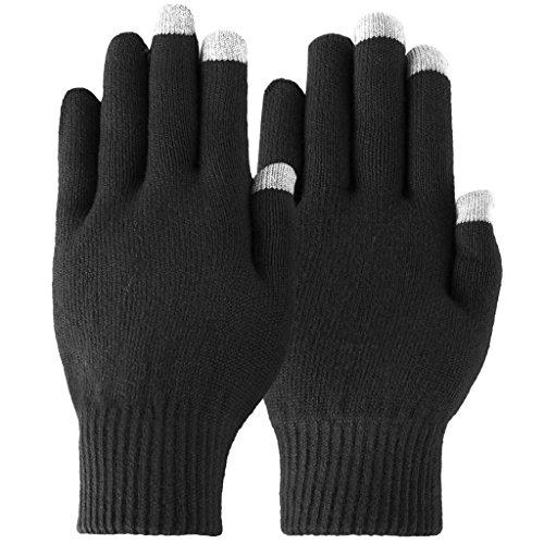 Novawo Biegsame Touchsreen Handschuhe f¨¹r Winter - Mischung aus Kaschmirwolle und Scharfwolle
