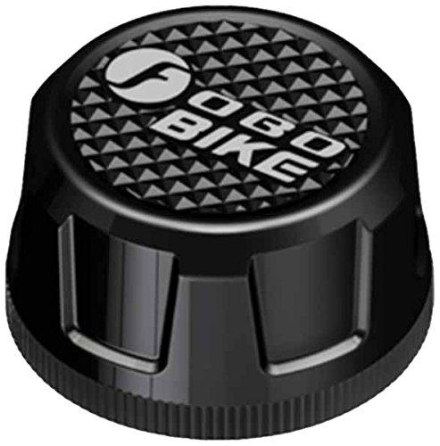 FOBO FB1574, sistema Bluetooth di monitoraggio della pressione dei pneumatici moto TPMS con 2 sensori (Nero)