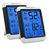 ThermoPro TP55 Digital Indoor Hygrometer Thermometer Temperature and Humidity Monitor Room Moisture Meter with Large Touchscreen