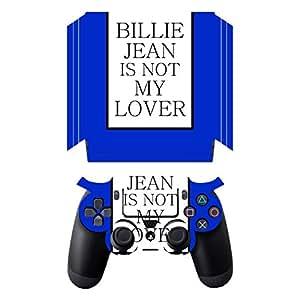 "'DISAGU SF SDI 5547_ 584Design Schermo per Sony PS 4Pro con controller–Motivo""Billie Jean is not My Lover trasparente"