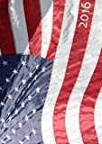 Kalender 2016 - A5 - Amerika Flagge: DIN A5, 1 Woche auf 2 Seiten, Platz für Adressen und Notizen
