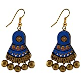 Avarna Terracotta Dangle & Drop Earings For Women ( BlueERB0002)