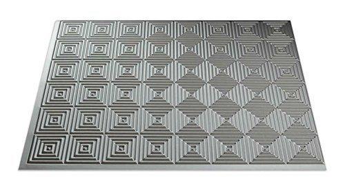 Fasade B53-09 Easy Installation Backsplash Miniquattro Panel for Kitchen and Bathrooms, 18 x 24, Argent Silver by Fasade (Backsplash Na)