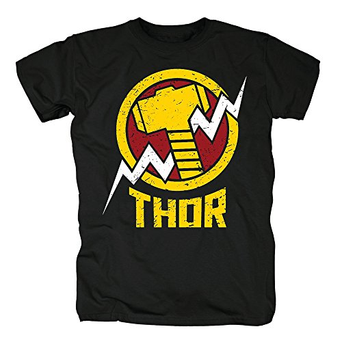 TSP Avengers Thor T-Shirt Herren L Schwarz (Herren Kostüm Thor)