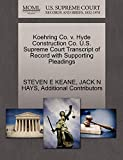 Koehring Co. V. Hyde Construction Co. U.S. Supreme Court Transcript of Record with Supporting Pleadings