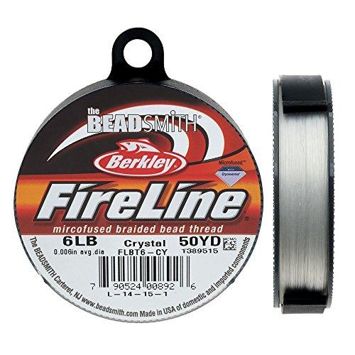"""FireLine Braided Bead Thread .008"""" Crystal Clear"""