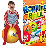 #8: ANG Hopping Bouncing Inflatable Hop Ball for Kids   Sit and Bounce   Outdoor Party Games for Kids - Age ( 3 to 6 y)   Assorted Color and Design - 18 inch / 45 cms