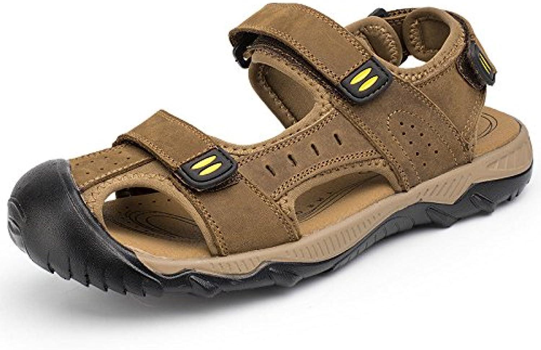 LEDLFIE Sommer Strand Schuhe Mode Männer Casual Sandalen Baotou Outdoor Herrenschuhe LightBrown 47LEDLFIE Sandalen Outdoor Herrenschuhe LightBrown 47