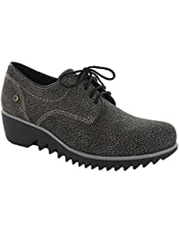 Wolky 1502 Tunica - Zapatos de cordones para mujer, color gris, talla 41 EU