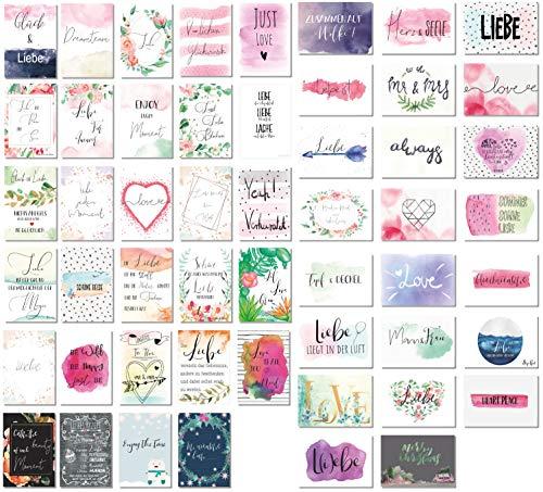 rten Hochzeit 52 Wochen - 52 Postkarten - Ein Jahr lang jede Woche eine Karte -kreatives Hochzeitsgeschenk - Hochzeit Postkarten Spiel ()