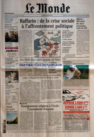 MONDE (LE) [No 18174] du 03/07/2003 - CONSTITUTION...