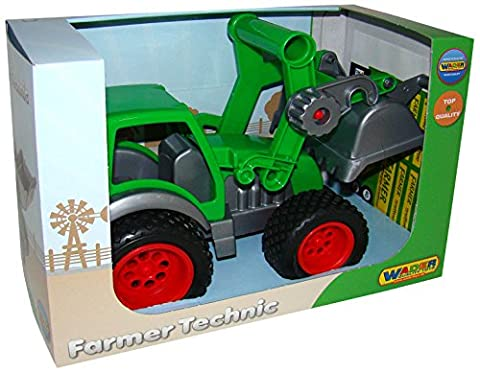 polesie37787Putzwagen Farmer Technic Traktor mit Frontloader in Box