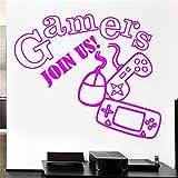 Amovible Gaming Jeu Vidéo Joystick Enfants Salle De Jeux Vinyle Decal Autocollants Papier Peint Garçons Chambre Décoration Stickers Muraux ww-4 97x114cm