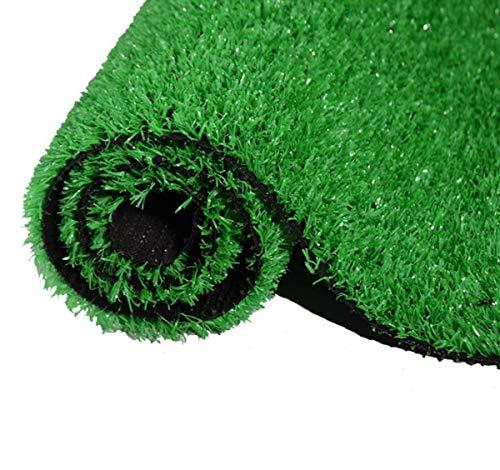 BYCDD Kunstrasen Rasenteppich für Garten, Professionelle 15mm Realistische Kunststoffrasen Künstlicher Rasen Kunstrasenteppich für Hunde Haustiere,Green_5x2m/15x6ft -