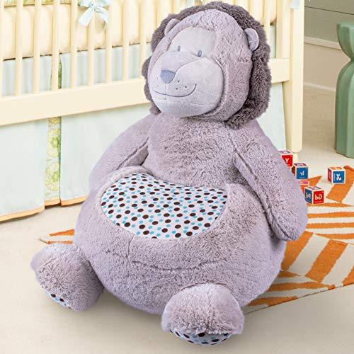 Bakaji home divano poltroncina divanetto bambini maxi peluche forma animale sedia con seduta imbottita arredo stanzetta cameretta bimbi, poltrona soffice alta qualità (orso)