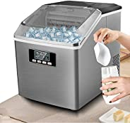 Ice Maker Machine Countertop 25KG/24H Portable and Compact Ice Cubes Ready in 10-15 Mins