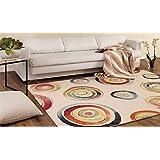 Alfombra de diseño estilo moderno dibujo a círculos multicolores – Alfombra Sitap Made in EU Capri 32356 – 6369
