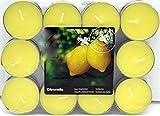 24 Citronella Duftlichter Zitrone Teelichter Outdoor Brenndauer Ca. 4h Anti Mücken Kerzen Auch Für Den Garten