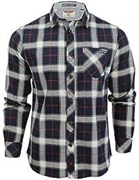 Chemise en flanelle à carreaux à manches longues par Tokyo Laundry pour homme