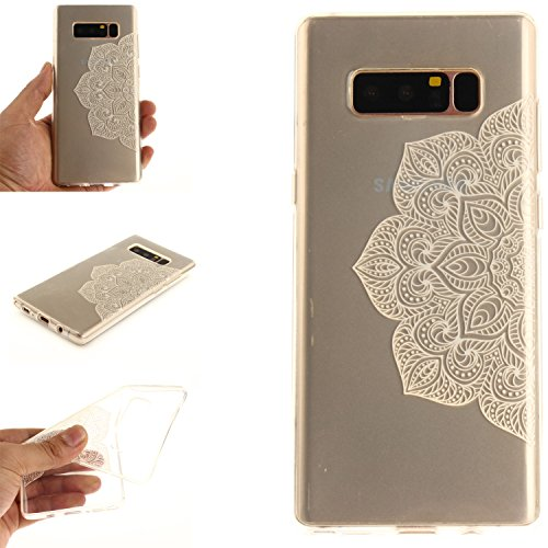 Ooboom® iPhone X Coque Housse Transparent TPU Silicone Gel Étui Cover Case Ultra Mince Slim pour iPhone X - Tournesol Noir Blanc Fleur