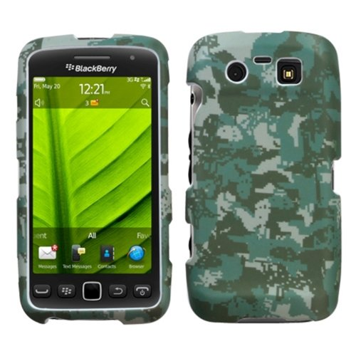Camo Handy-faceplates (MYBAT BB9850HPCLZ766NP Lizzo Durable Protective Case for BlackBerry Torch 9850-1 Pack - Retail Packaging - Digital Camo/Green)