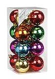 Christbaumkugeln PVC 6cm 16 Stk. BOX Easy Christmas Mix // Dekokugeln Weihnachtskugeln Baumkugeln Baumschmuck Set Inge-Glas Plastik Kunststoff 60mm grün
