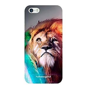 HomeSoGood Vintage Lion Multicolor 3D Mobile Case For iPhone 5 / 5S (Back Cover)