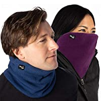 DG Hill (2 Pack) Thick Heat Trapping Thermal Neck Warmers, Neck Gaiter Set Fleece Unisex