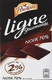 Poulain Tablette de Chocolat Noir 70% sans Sucres Ajoutés Ligne Gourmande 100 g  - Lot de 10