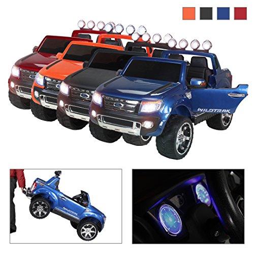 Kinder Elektroauto Ford Ranger lackiert Original Lizenz Kinderauto Kinderfahrzeug Elektro Auto Spielzeug Für Kinder … (Blau Lackiert)