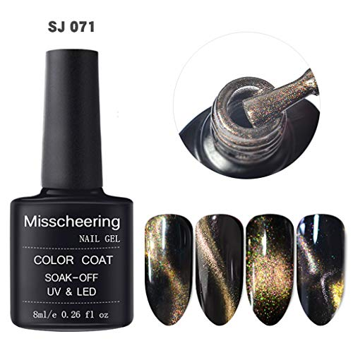 MA87 Glänzend Nagelpolitur 5D Nagel Gel Magnet Magic Cat Eye Gel Nail Art Tränken Sie UV LED Gel (F)