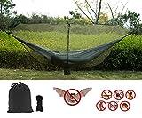 cyberdyer Outdoor Hängematte Bug Net Mücken Net 360Grad Deckung Hängematten Schnell einfaches Setup Essential Camping und Survival Gear passend für alle Double Single Hängematten (11