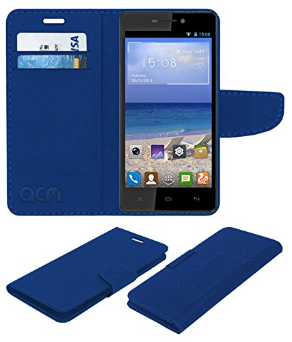 Acm Mobile Leather Flip Flap Wallet Case for Gionee M2 Mobile Cover Blue  available at amazon for Rs.369