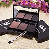 3 Colors Mineral Eyebrow Cake Powder Makeup Palette Waterproof Long Lasting Cosmetics Set With Brush