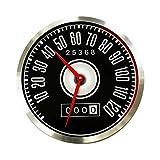 Horloge murale sans bruits de tic-tac pour homme garçon enfant - Cadeau créatif silencieux vintage - Montres comme le compteur dans Ford Mustang rétro Horloge murale en aluminium de diamètre 30 cm