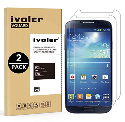 ivoler [Pack de 2] Verre Trempé Compatible avec Samsung Galaxy S4 [Garantie à Vie], Film Protection en Verre trempé écran Protecteur vitre (0,3mm HD Ultra Transparent)