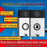 KESOTO Wireless Türklingel mit Gegensprechanlage, 1/2 Sender + 1/2/3 Empfänger, bis 200m - 1 Transmitter + 2 Receiver