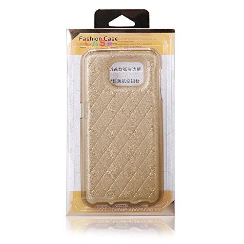 Sehr elegante TPU Schutzhülle für ihr Iphone 6 mit PU-Lederrücken in Gold Gold
