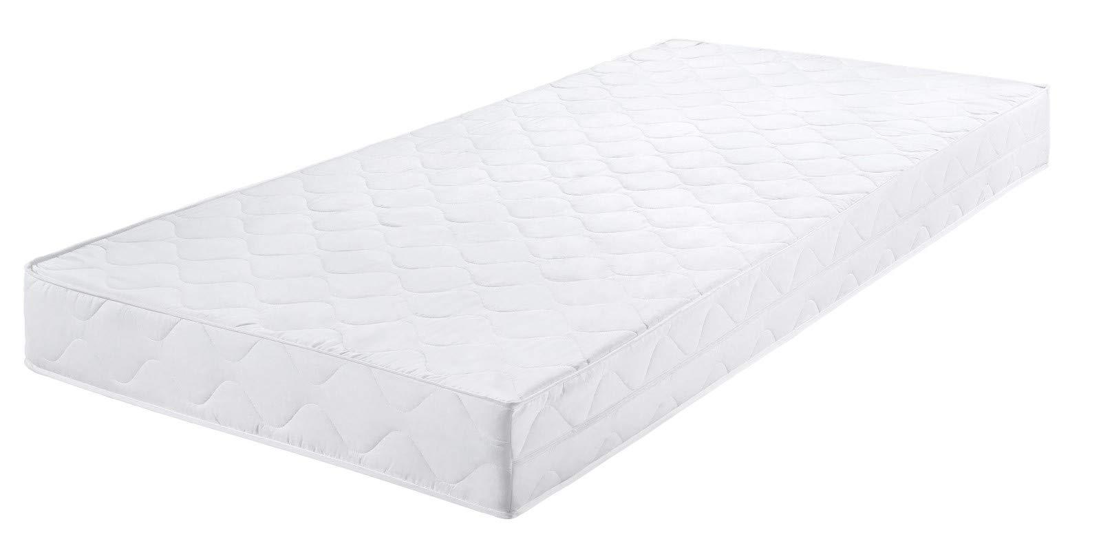 Badenia Bettcomfort Roll-Komfortmatratze, Trendline BT 100, Härtegrad 2, 90 x 200 cm, weiß
