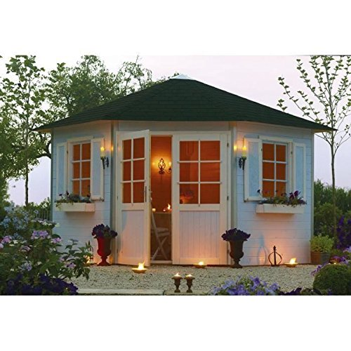 Abri de jardin de coin en bois Vichy 8,05m²