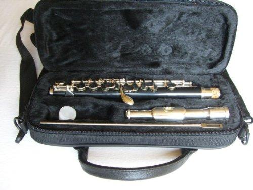 SYMPHONIE WESTERWALD Piccoloflöte/Piccolo Flöte, echt versilbert, Tragetasche und Zubehör, Neu