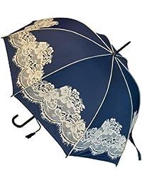 Blooming Brollies Boutique Vintage encaje Stick paraguas–azul marino
