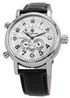 Reloj de caballero Burgmeister Nevada BM105-112 automático, correa de piel color negro de Burgmeister